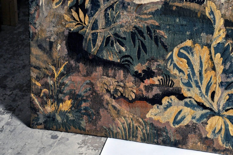 Belgian 18th Century Flemish Verdure Tapestry For Sale