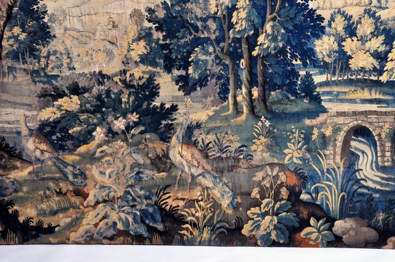 18th Century Flemish Verdure Tapestry For Sale 2