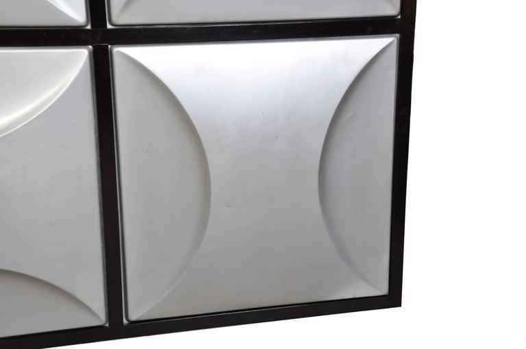 Set of Nine Aluminum Wall Panels For Sale 4