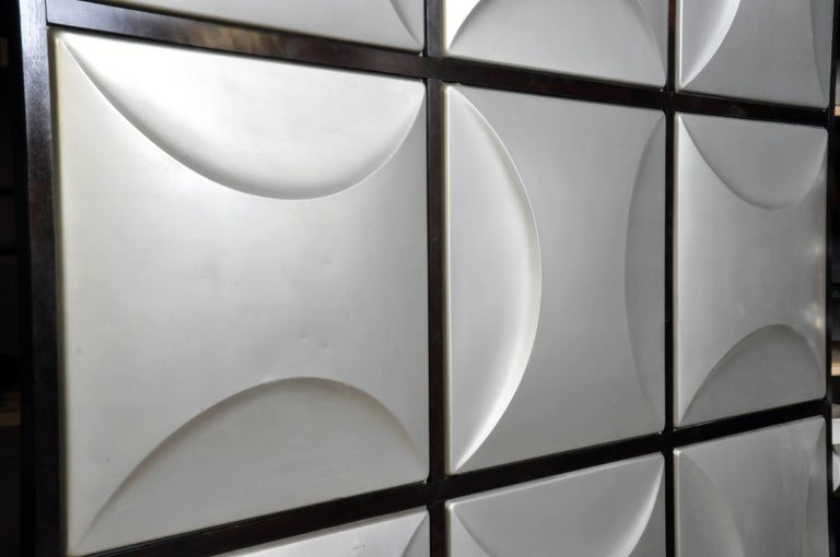 Late 20th Century Set of Nine Aluminum Wall Panels For Sale