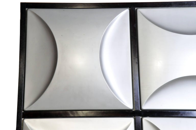 Set of Nine Aluminum Wall Panels For Sale 2