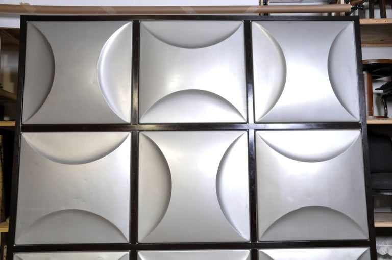 French Set of Nine Aluminum Wall Panels For Sale