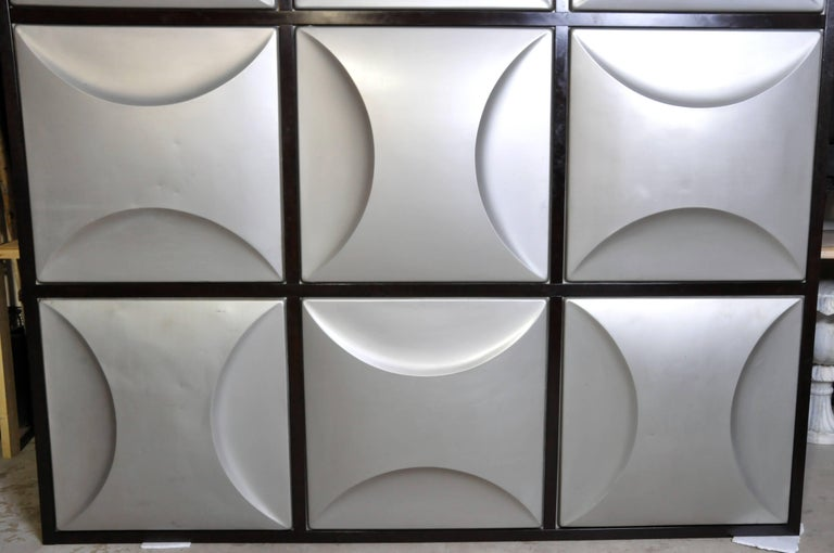 Set of Nine Aluminum Wall Panels In Good Condition For Sale In Chicago, IL