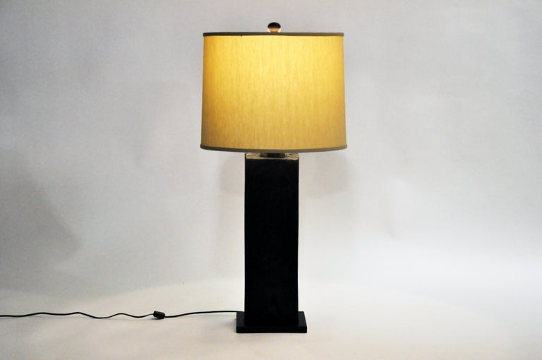 Custom Solid Wood Table Lamp For Sale At 1stdibs