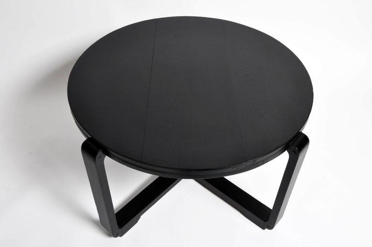 Teak British Colonial Art Deco Tea Table For Sale