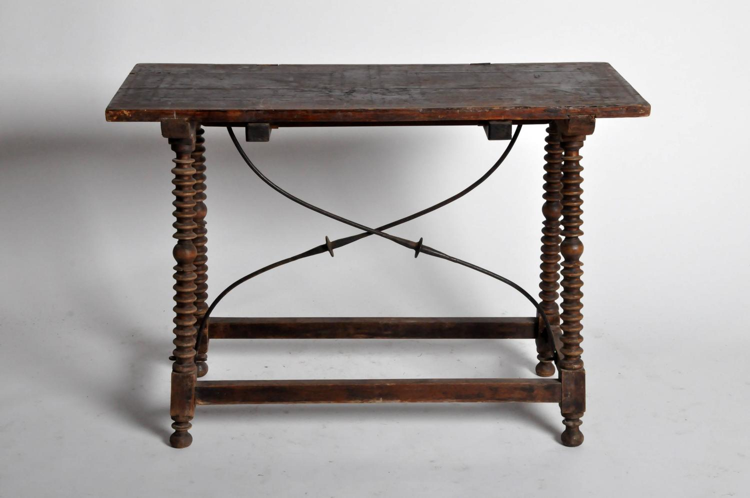 Spanish Trestle Leg Table at 1stdibs