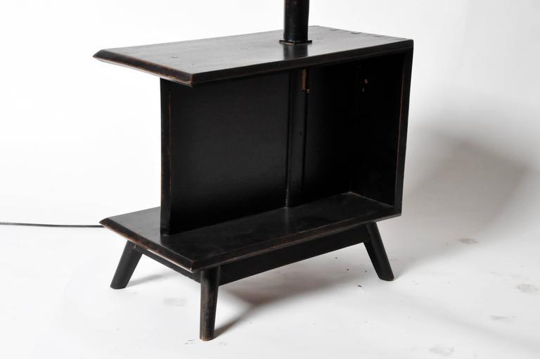 Thai Modern Side Table Floor Lamp For Sale