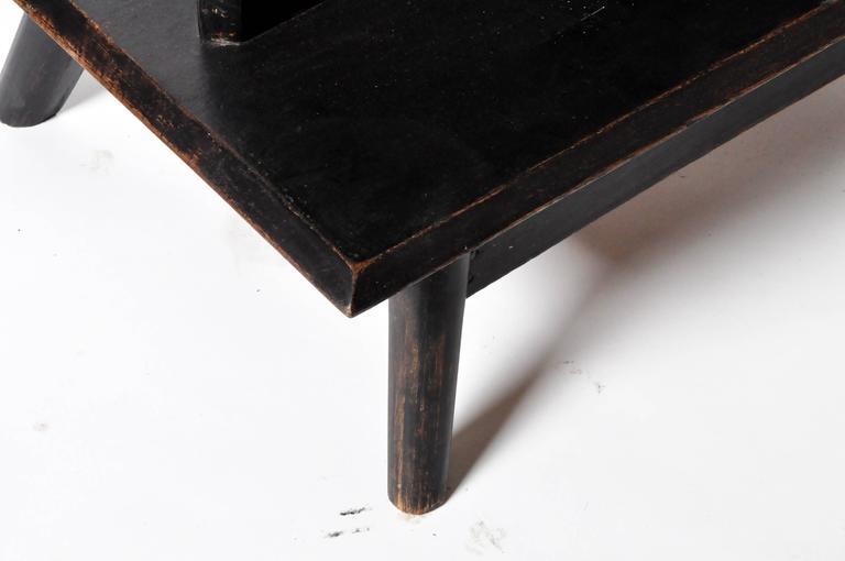 Teak Modern Side Table Floor Lamp For Sale