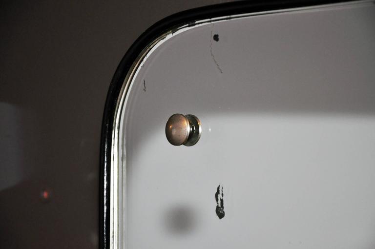 Lacquered Mid-Century Modern Streamline Mirror