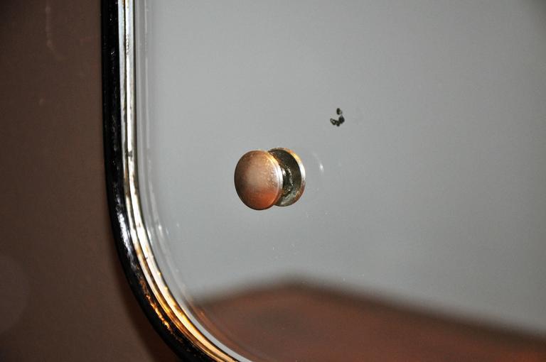 Wood Mid-Century Modern Streamline Mirror