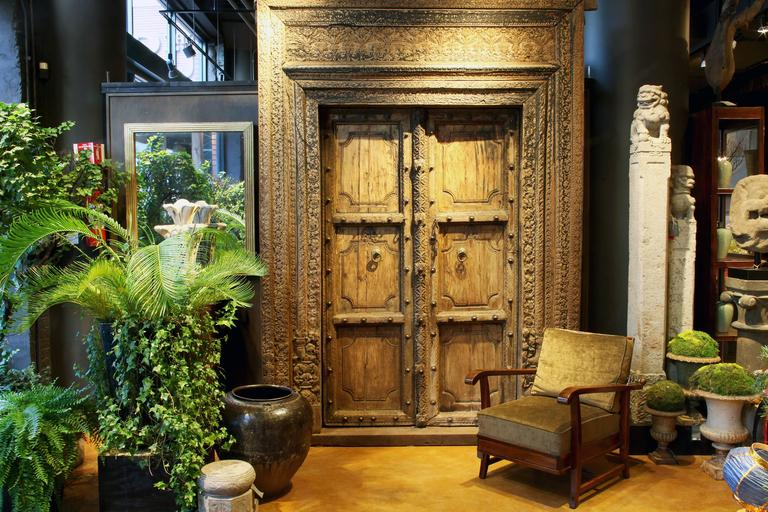 Set of Indian Doors with Surround 2