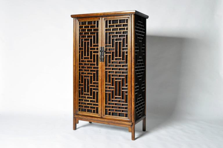 Chinese lattice cabinet at 1stdibs for Chinese furniture restoration