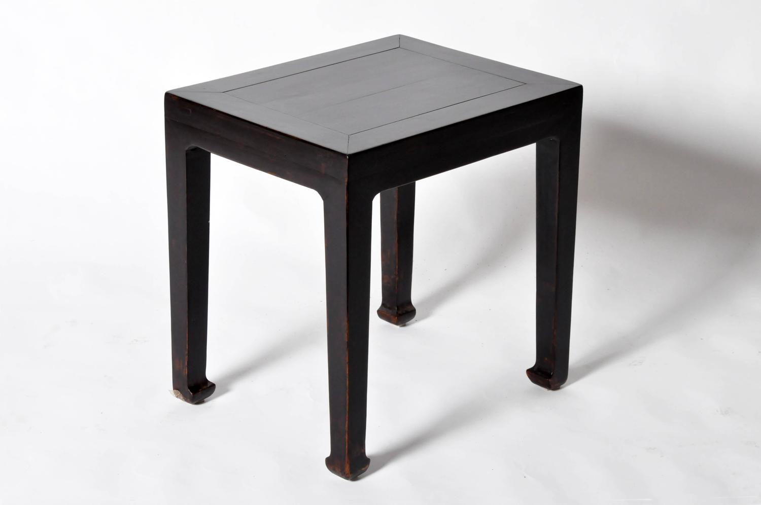 Pair Of Chinese Side Tables With Restoration At 1stdibs