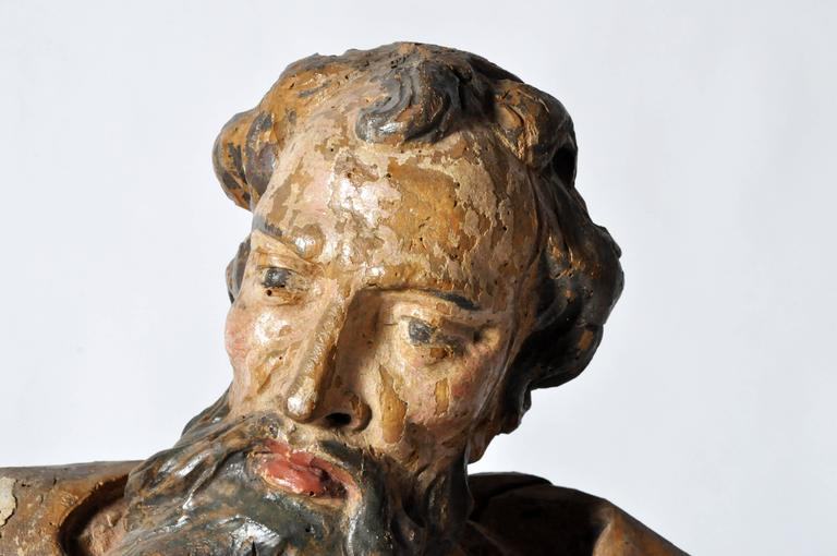 18th Century and Earlier Sculpture of Saint Peter For Sale
