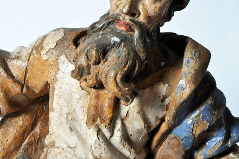 Poplar Sculpture of Saint Peter For Sale