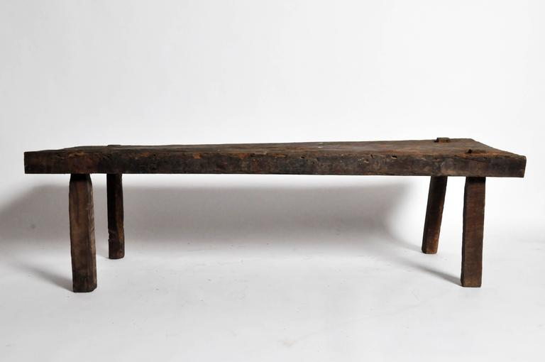 19th Century Rustic Coffee Table For Sale