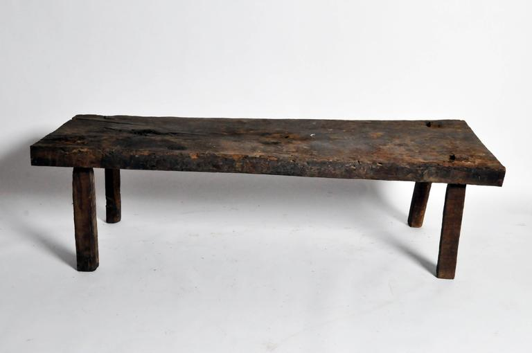 Rustic Coffee Table In Good Condition For Sale In Chicago, IL