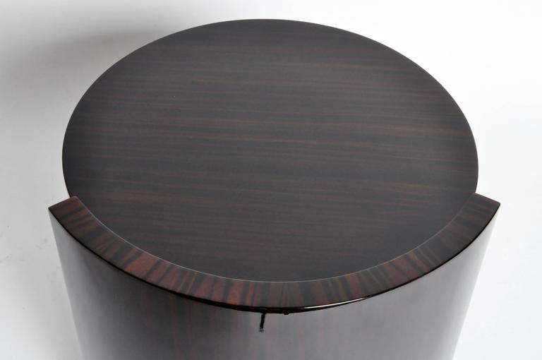 Veneer Round Mid-Century Style Table For Sale