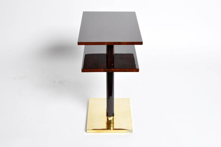 Contemporary Side Table with Shelf For Sale