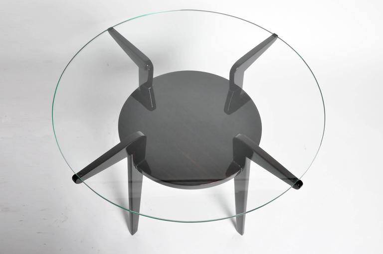 Mid century french glass top round tables for sale at 1stdibs for 13 inch round glass table top
