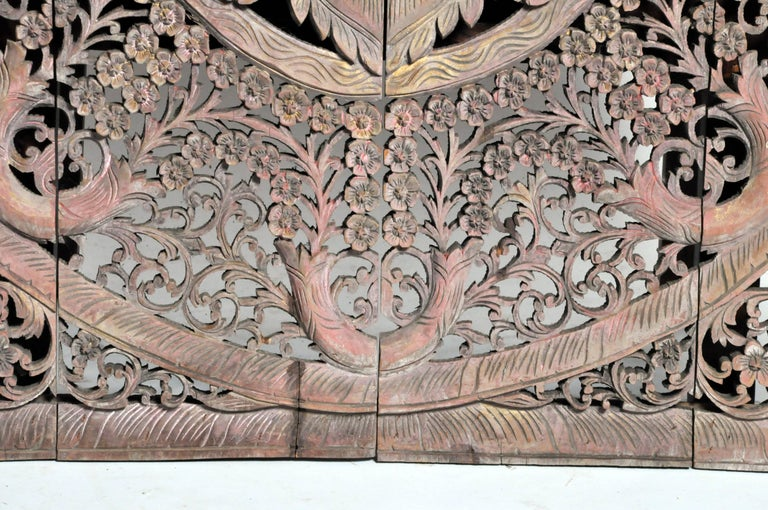 Carved Ceiling Panel with Flower Motifs 9