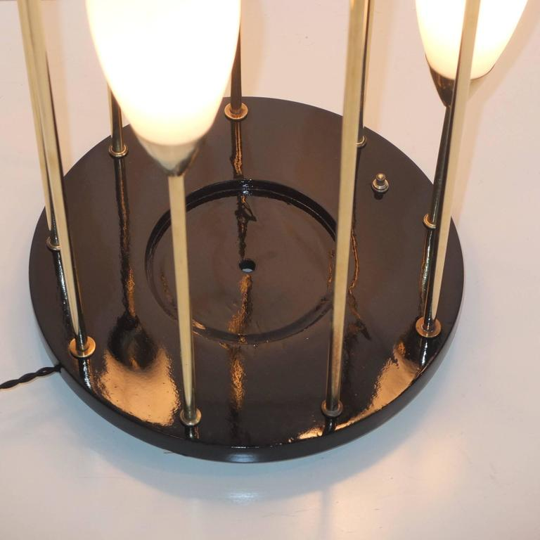 1950s Italian Brass Cage Lamp Pedestal Stand 6