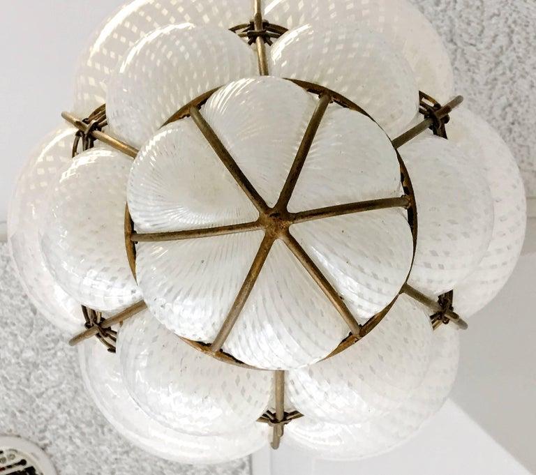 Dino Martens Murano Cage Blown Bubble Glass Lantern For Sale 2
