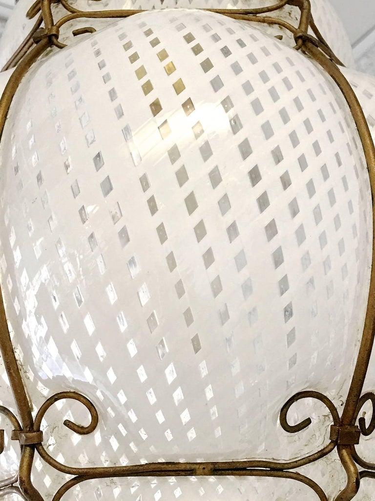 Dino Martens Murano Cage Blown Bubble Glass Lantern For Sale 1