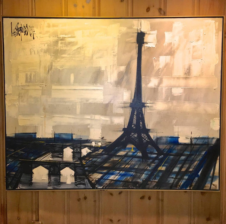Mid-Century Modern Eiffel Tower Painting by Lee Reynolds For Sale
