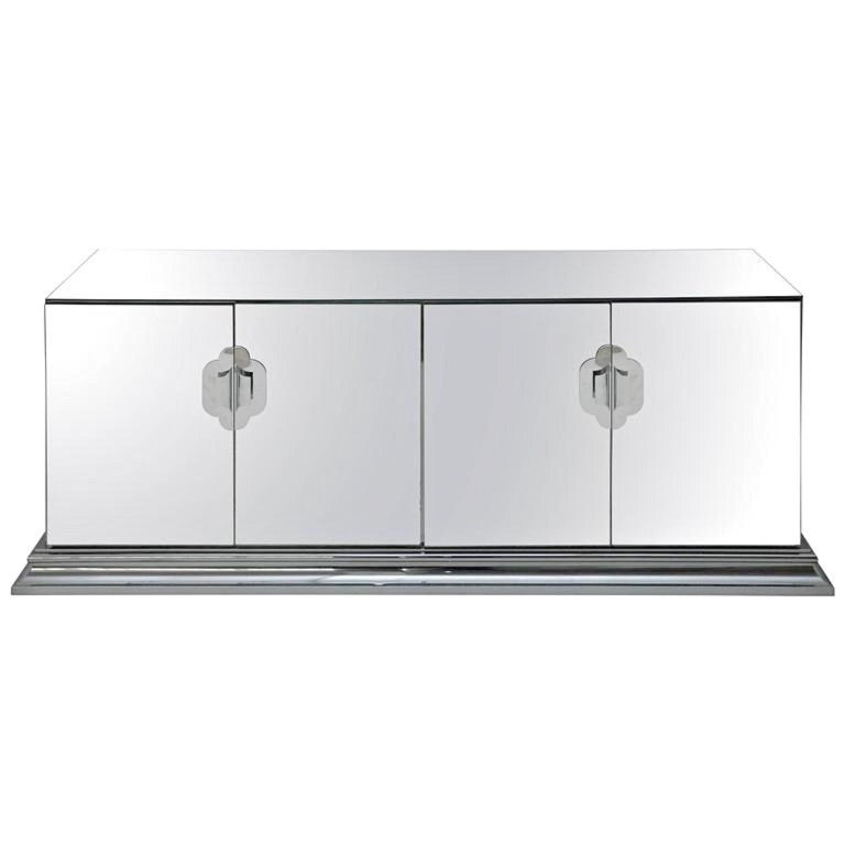 Ello Mirrored Sideboard with Chrome Base and Hardware by O. B. Solie
