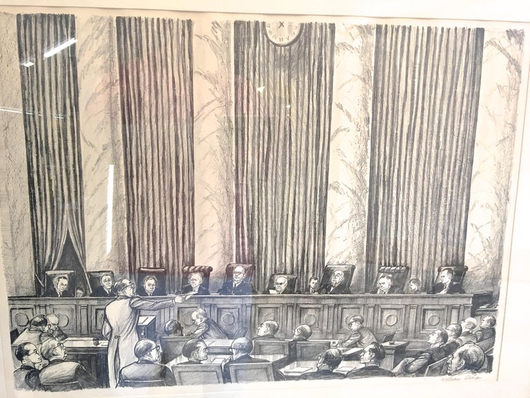 William Sharp Lithograph of United States Supreme Court In Good Condition For Sale In Hingham, MA