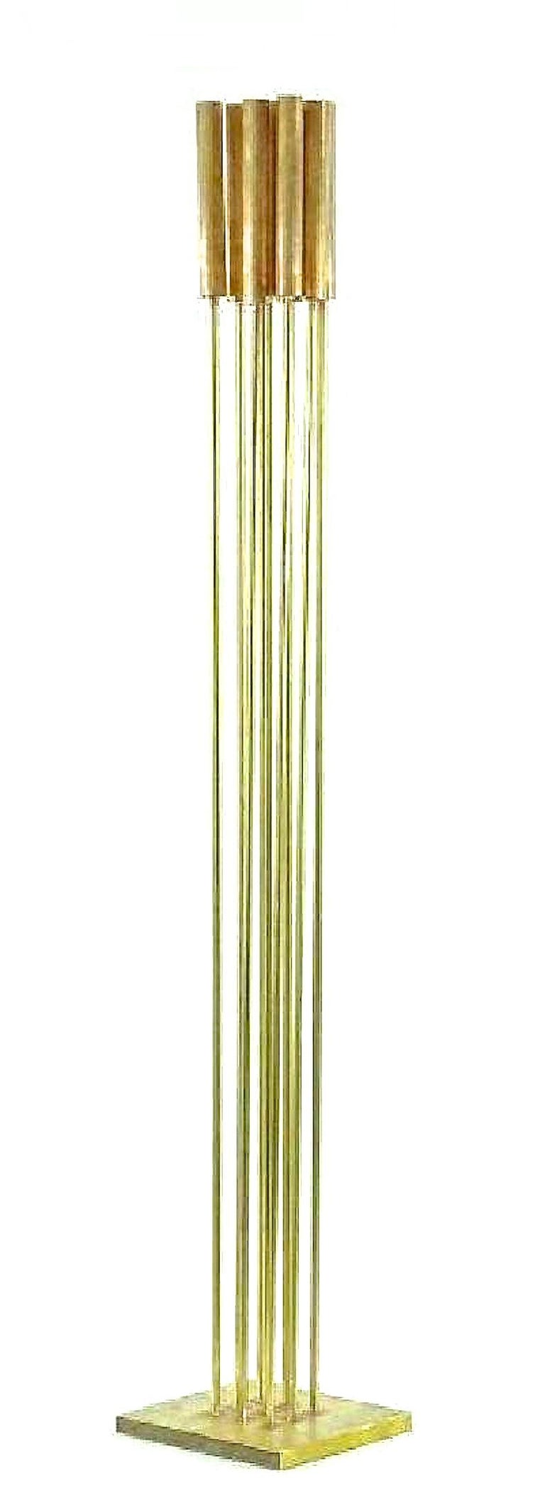 Contemporary 9-Rod Brass Kinetic Sculpture For Sale 14