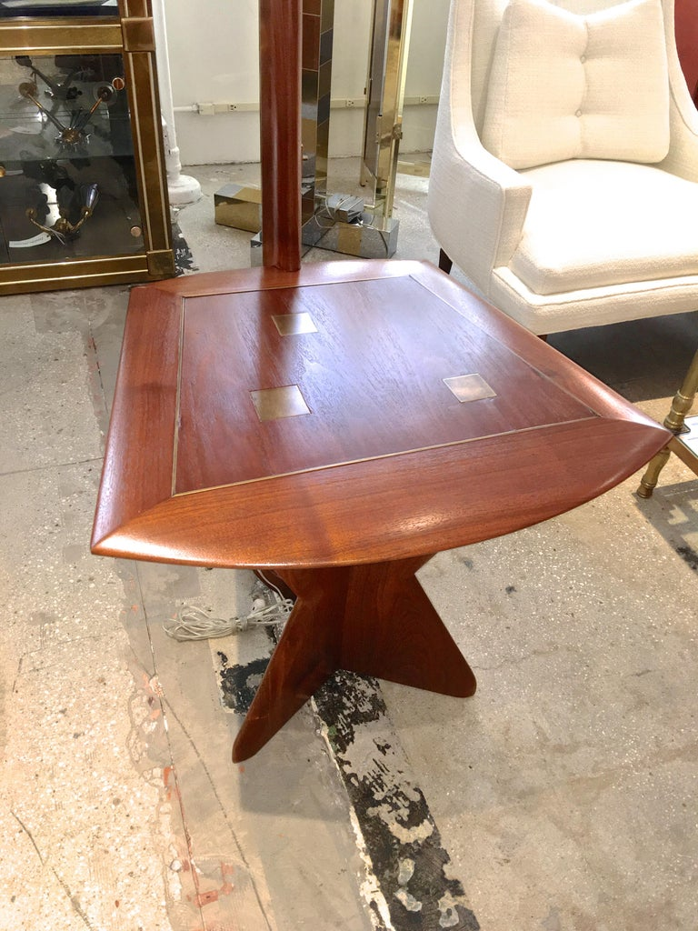 Mid-Century Modern Samson Berman Studio Floor Lamp with Integrated Table For Sale