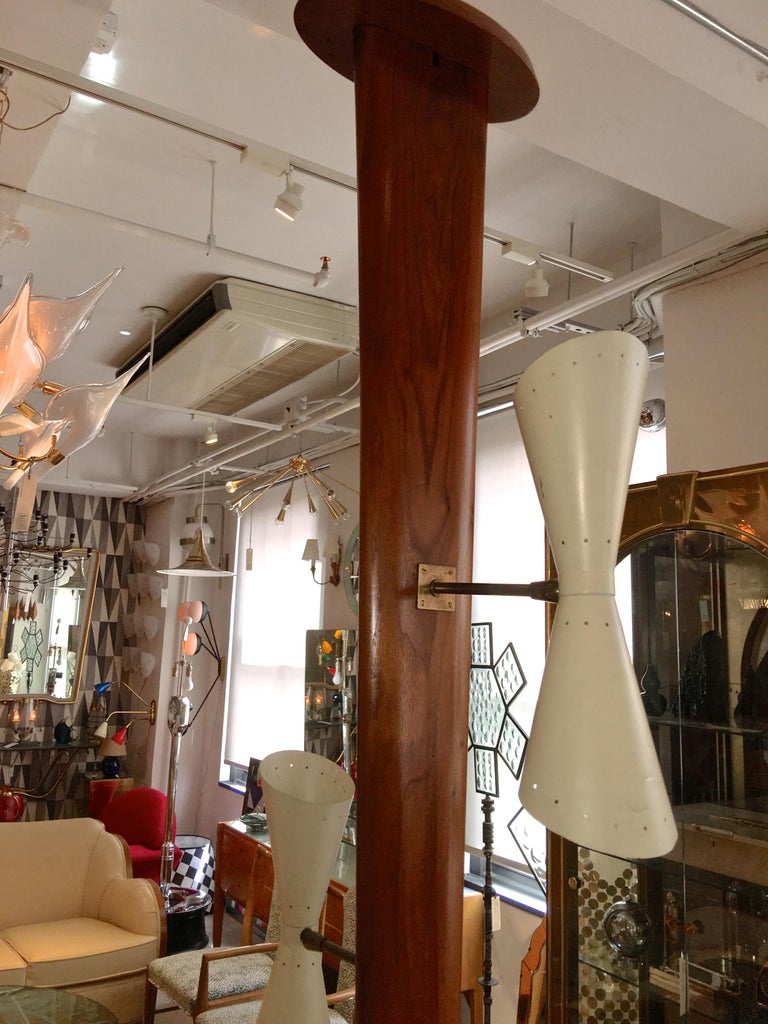 Mid-20th Century Samson Berman Studio Floor Lamp with Integrated Table For Sale