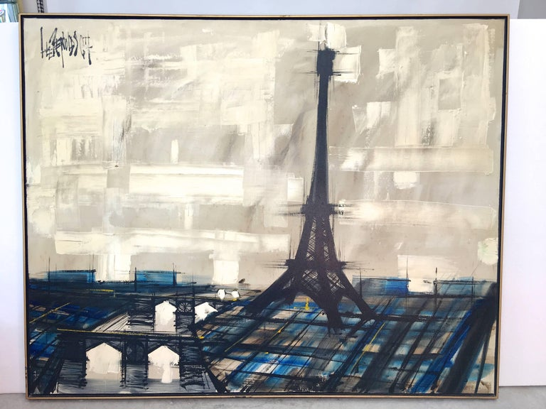 Mid-20th Century Eiffel Tower Painting by Lee Reynolds For Sale