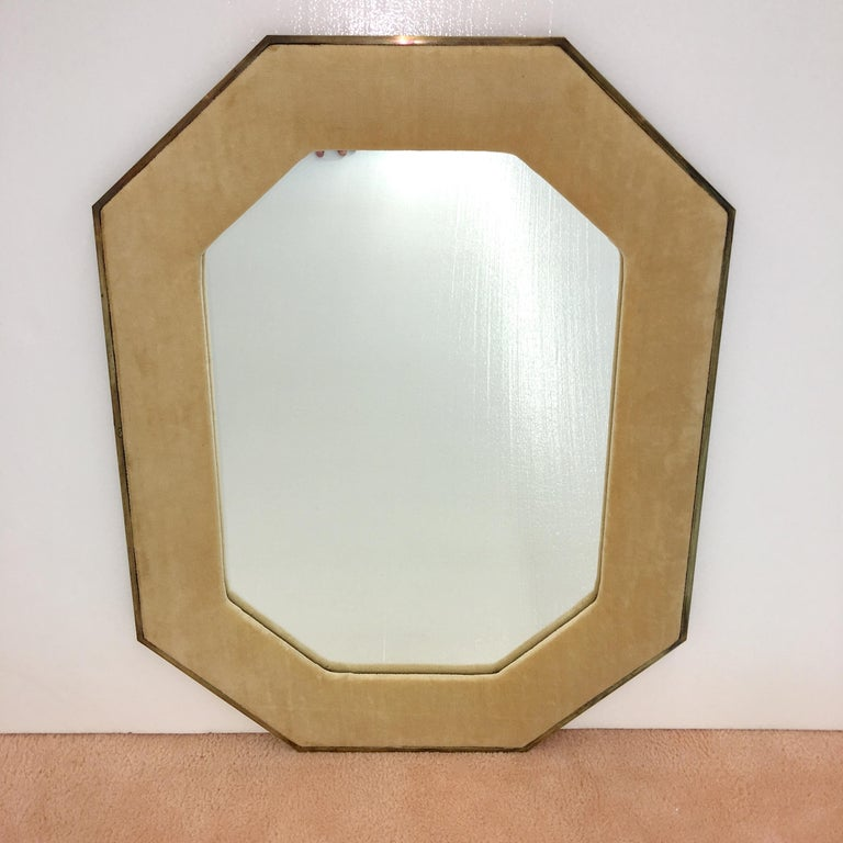 High quality octagonal shaped mirror produced in 1960 by John Widdicomb for John Stuart.