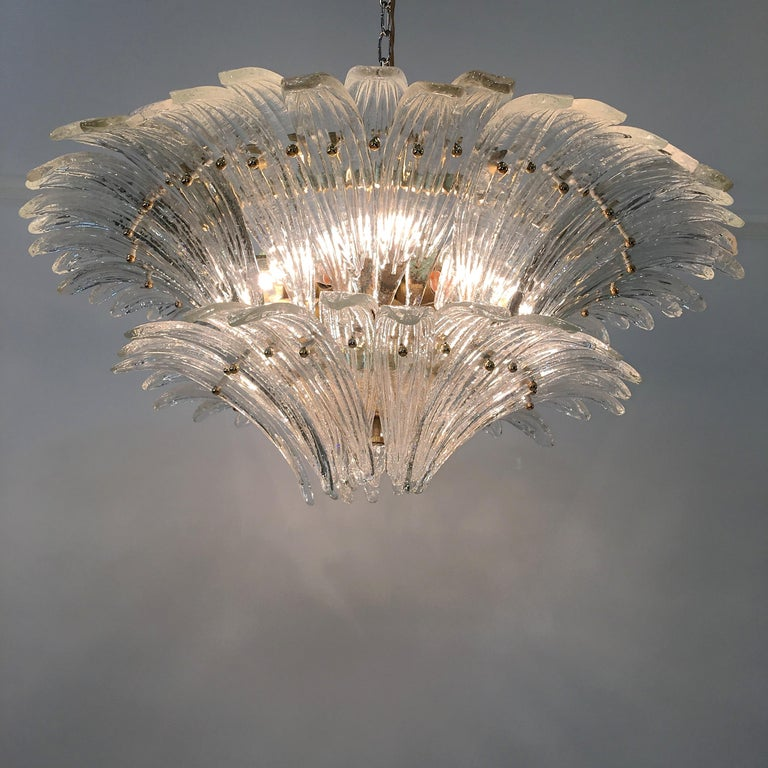 Barovier & Toso Palmette Chandelier For Sale 1