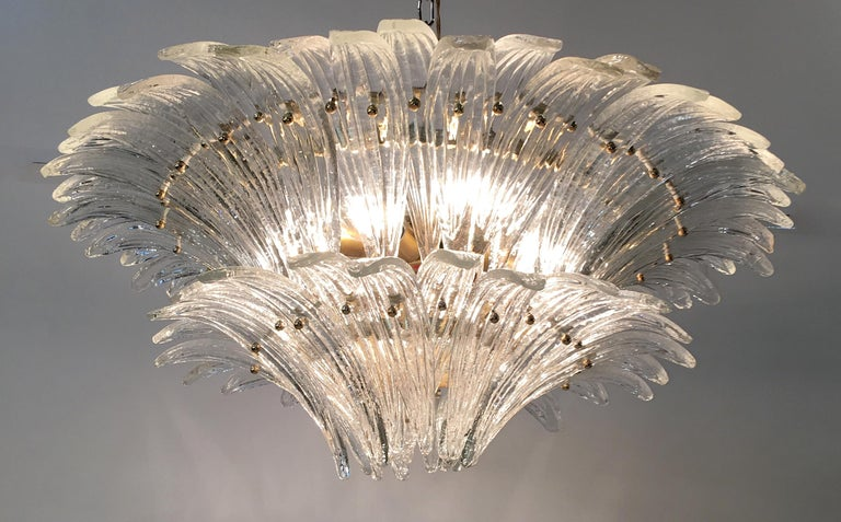 Barovier & Toso Palmette Chandelier For Sale 5