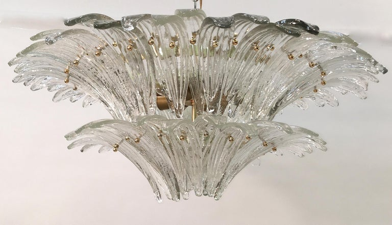 Barovier & Toso Palmette Chandelier For Sale 6