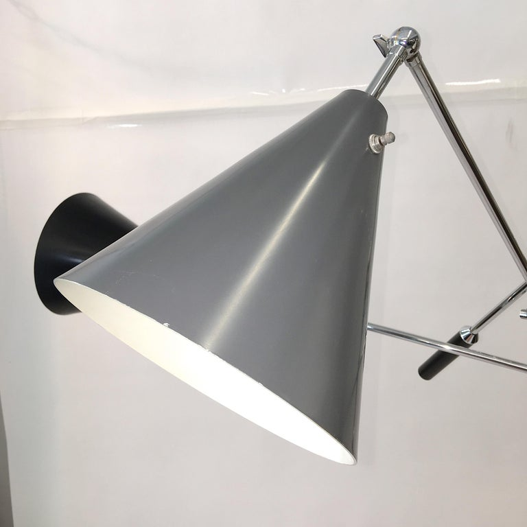 Triennale Floor Lamp Tri-Color, Chrome and Marble by Denis Casey For Sale 3