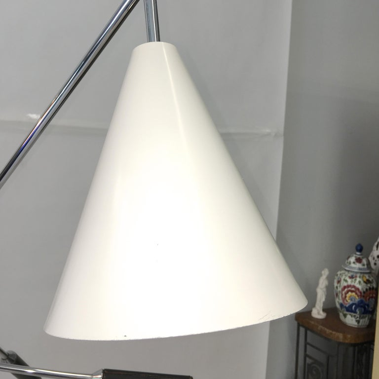 Triennale Floor Lamp Tri-Color, Chrome and Marble by Denis Casey For Sale 4