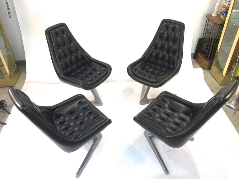 Set of Eight 'Star Trek' Sculpta Swivel Chairs by Chromcraft In Excellent Condition For Sale In Hingham, MA