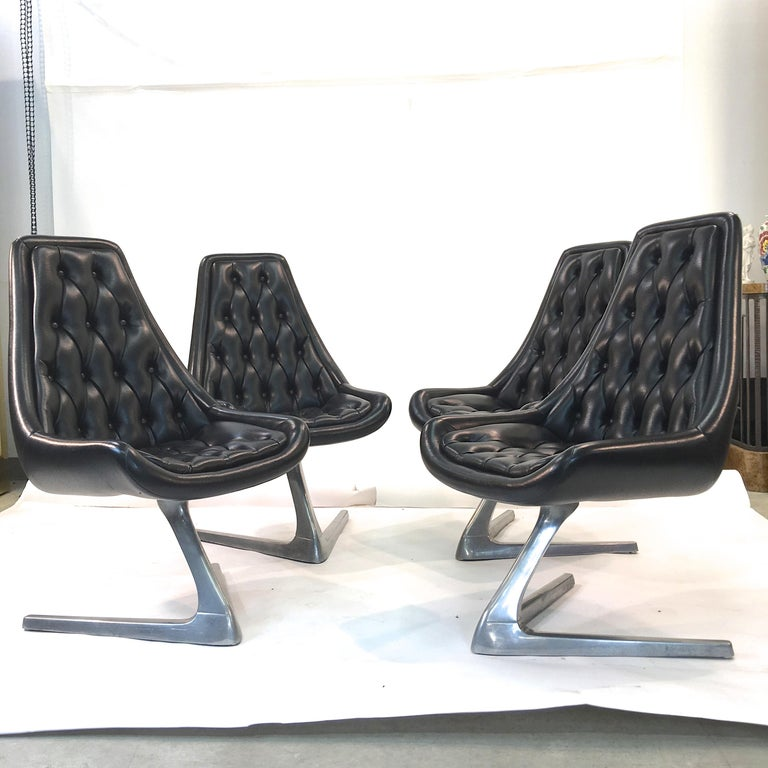 Mid-20th Century Set of Eight 'Star Trek' Sculpta Swivel Chairs by Chromcraft For Sale