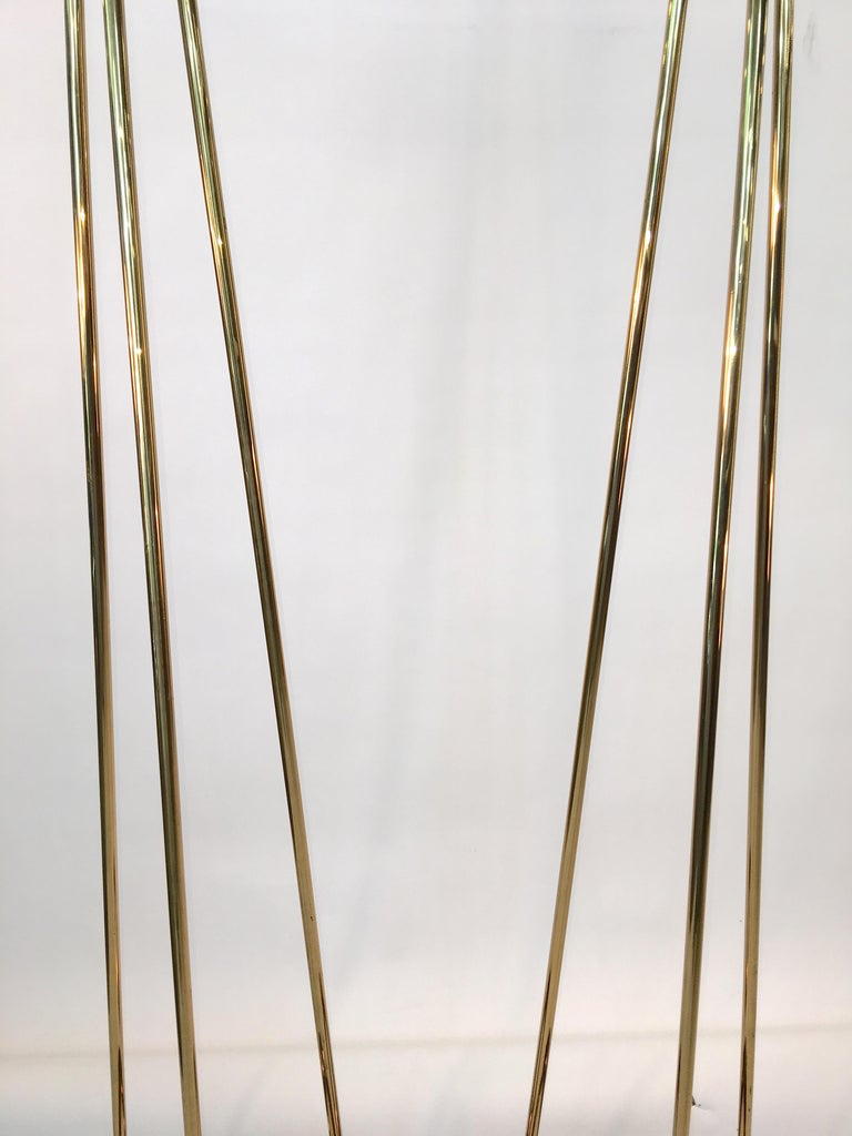 Pair of Casella Olympiad Halogen Torchiere Floor Lamps in Polished Brass For Sale 10