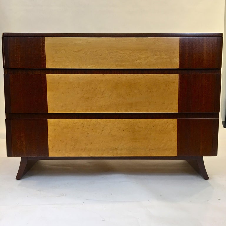 Mid-20th Century American Art Deco Chest of Drawers by R-Way For Sale