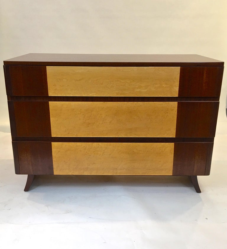 Mahogany American Art Deco Chest of Drawers by R-Way For Sale