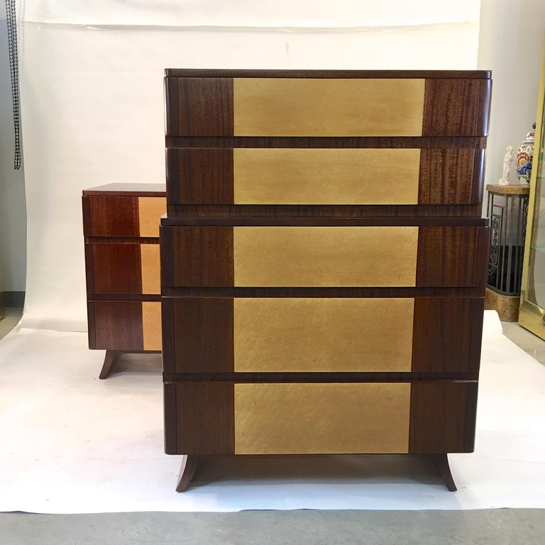 American Art Deco Tall Chest of Drawers by R-Way In Excellent Condition For Sale In Hingham, MA