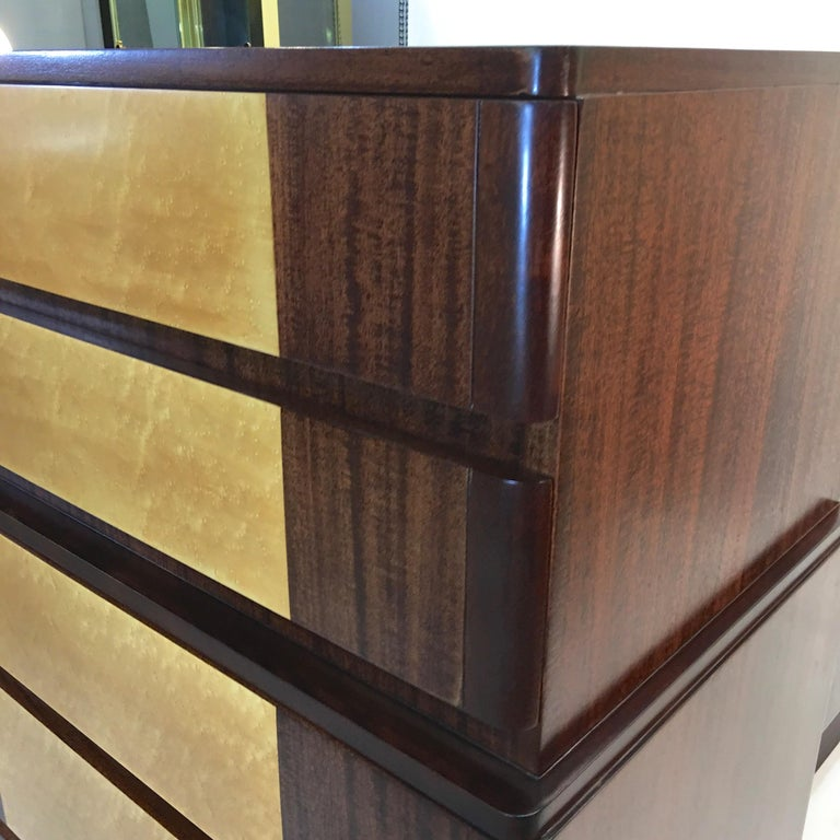 American Art Deco Tall Chest of Drawers by R-Way For Sale 4