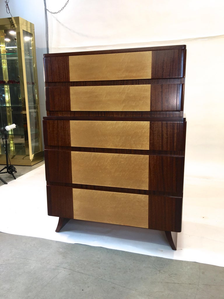 American Art Deco Tall Chest of Drawers by R-Way For Sale 8