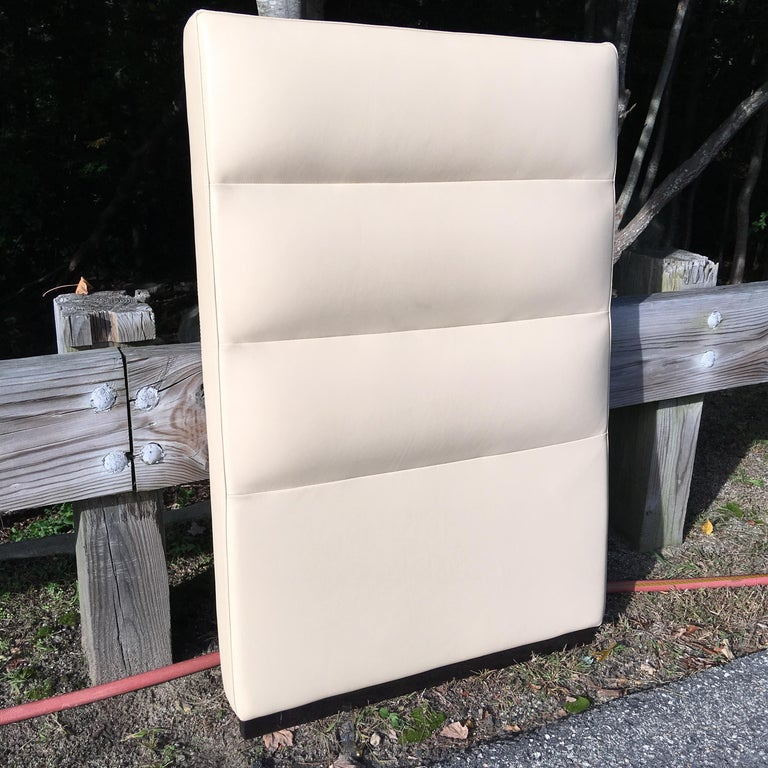Fendi Casa Leather King 'or Queen' Size Headboard with Integrated Nightstands In Good Condition For Sale In Hingham, MA